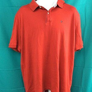 Tommy Hilfiger Classic Fit Red Polo Short Sleeve